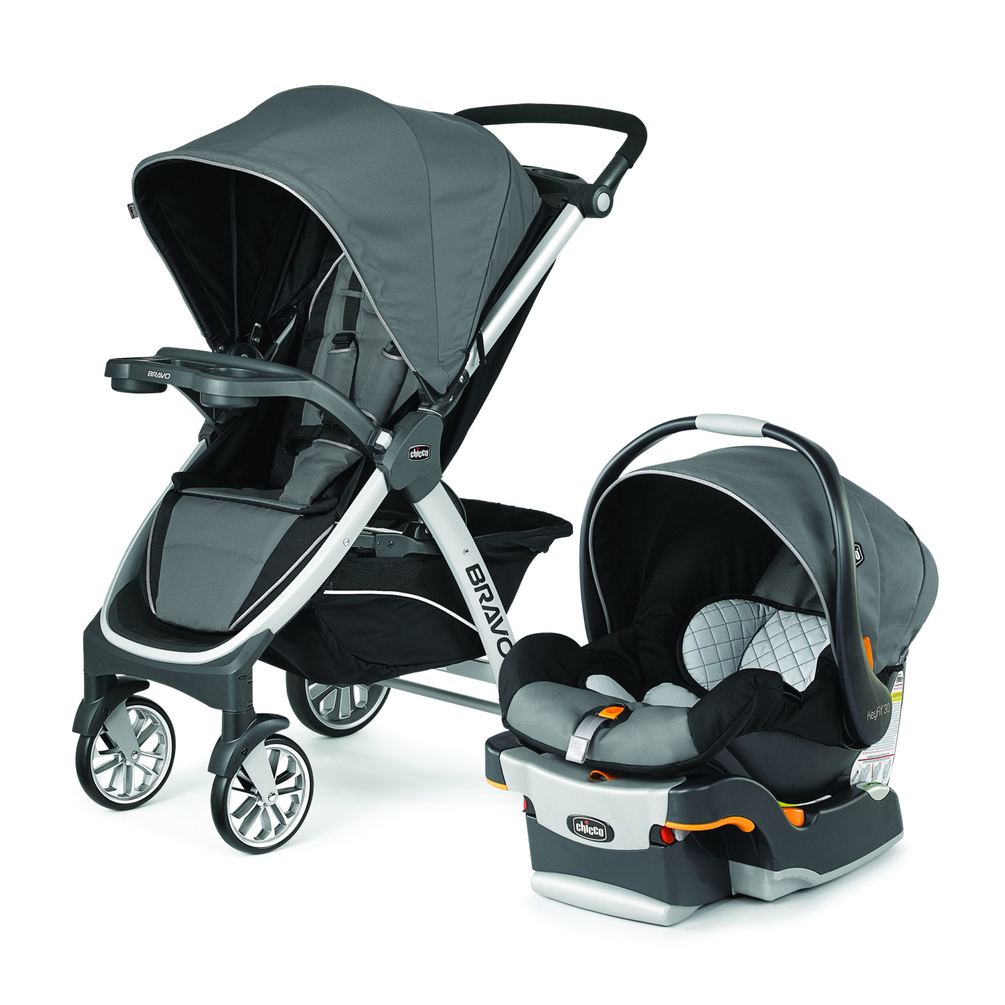 Chicco Bravo Trio System With KeyFit 30 Infant Car Seat Orion