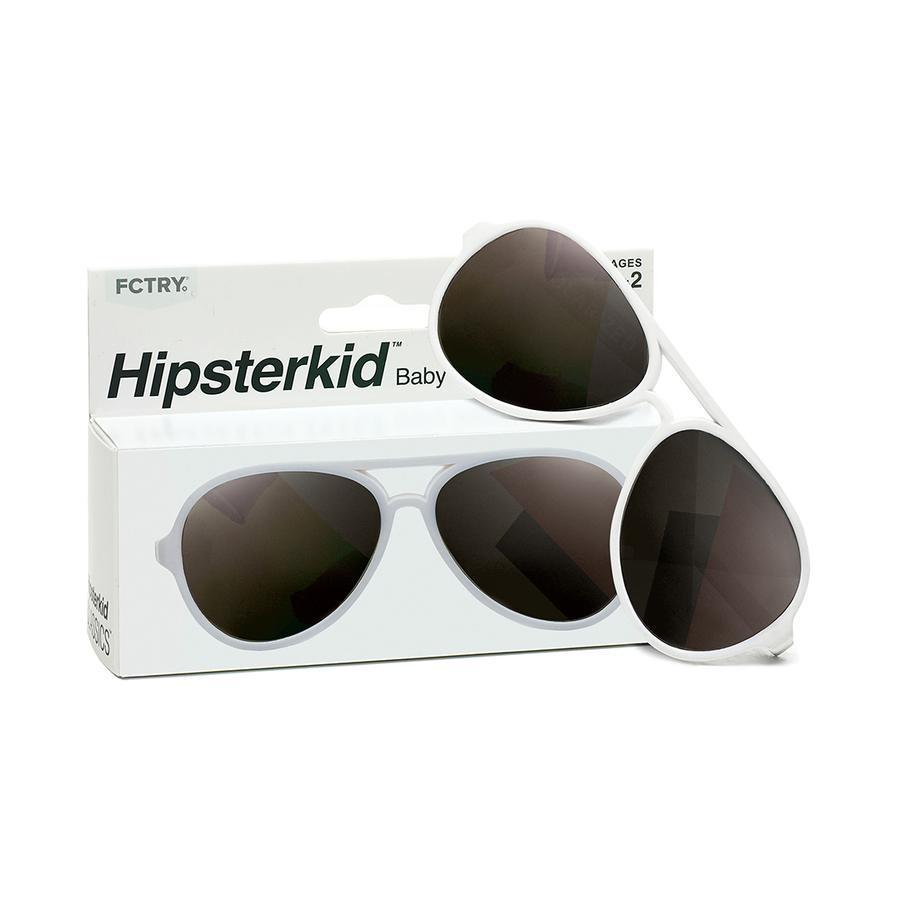 eefdfd6f17c0e Hipsterkid Polarized Baby Aviator Sunglasses White Size 0-2