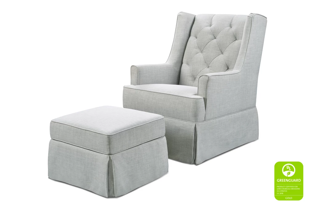 Fine Million Dollar Baby Classic Sadie Swivel Glider Storage Ottoman Light Grey Tweed Alphanode Cool Chair Designs And Ideas Alphanodeonline